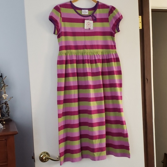 Hanna Andersson Other - Hanna Andersson  Purple&Green Striped Dress 12 NWT